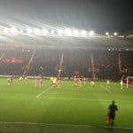 Saints in action at home against Arsenal earlier this year.
