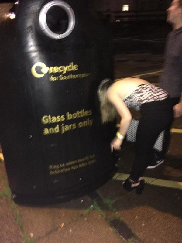 bottle bank bin