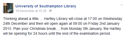 library confirmation