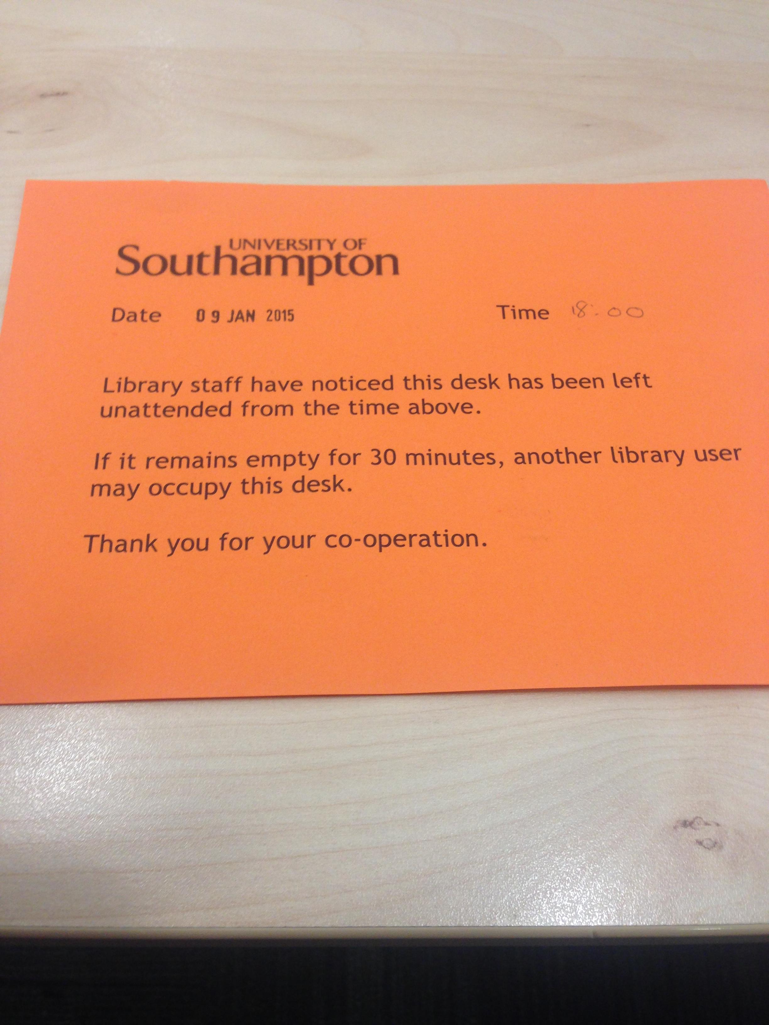 Library slips