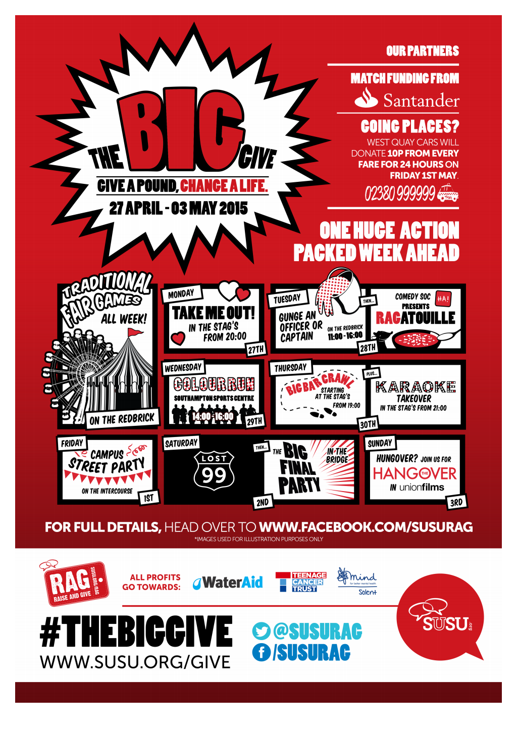 The Big Give timetable poster