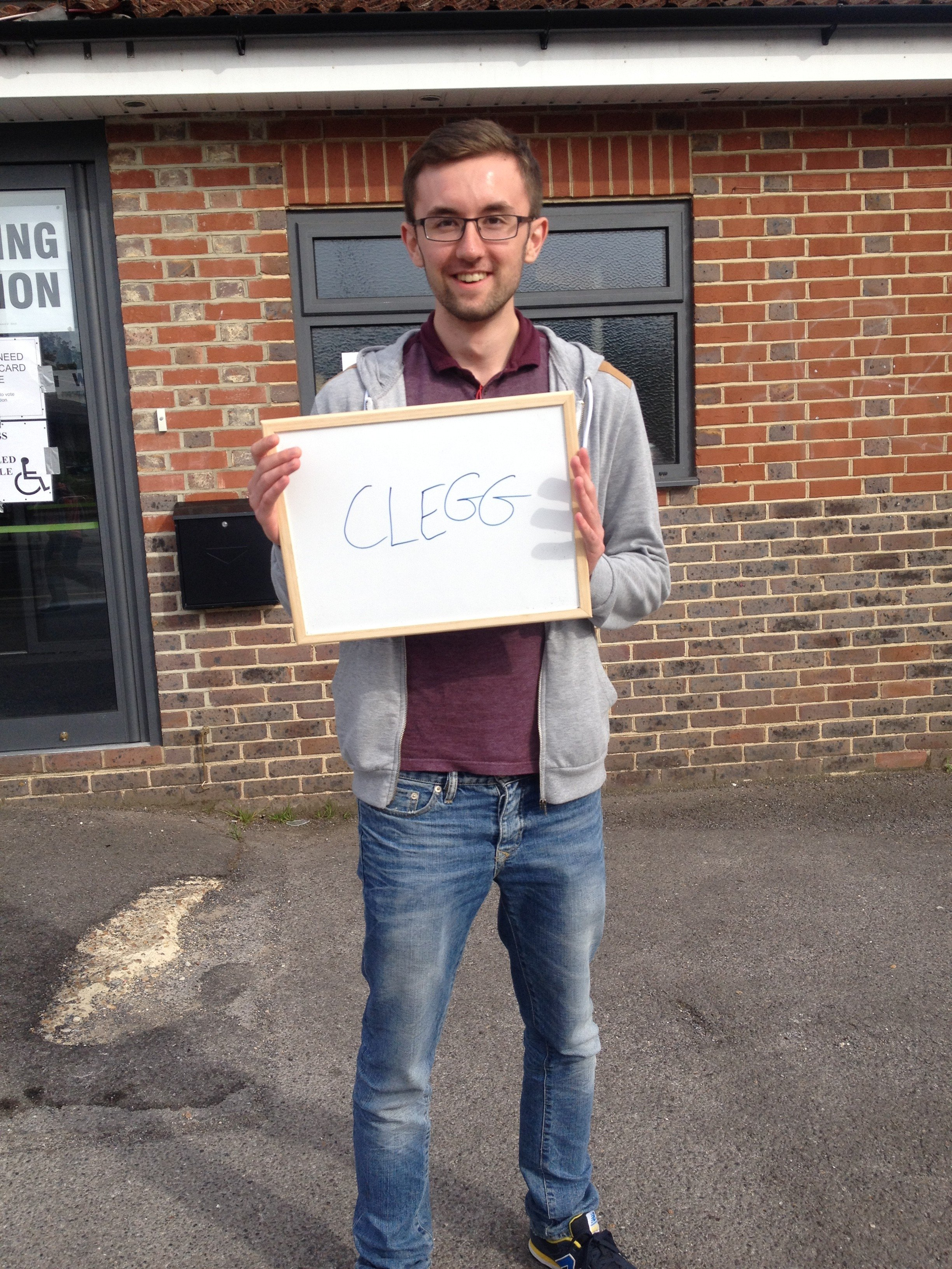 Tom, 3rd year economics student, decided that Clegg was definitely the one to back