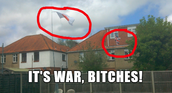 Proudly flying their flags