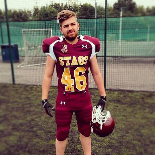In a confident mood: Lewis John Kelly is ready for Varsity