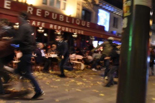 A picture of the violence in Paris on Friday night
