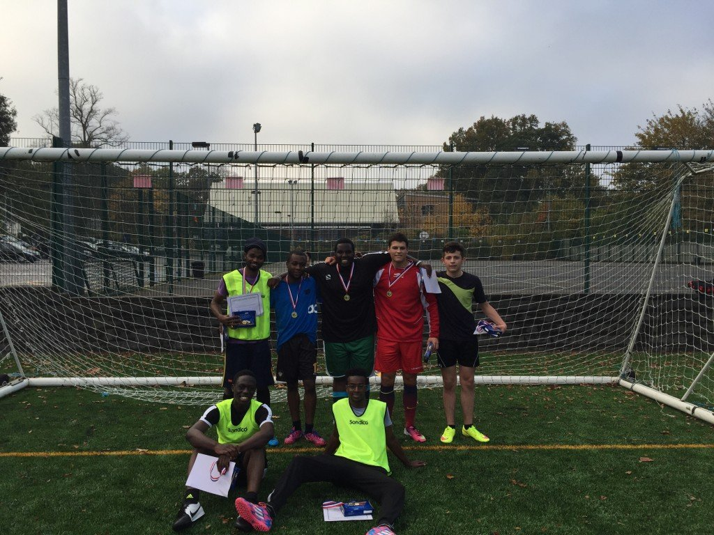 Winners: Team United celebrate their victory after a highly competitive tournament