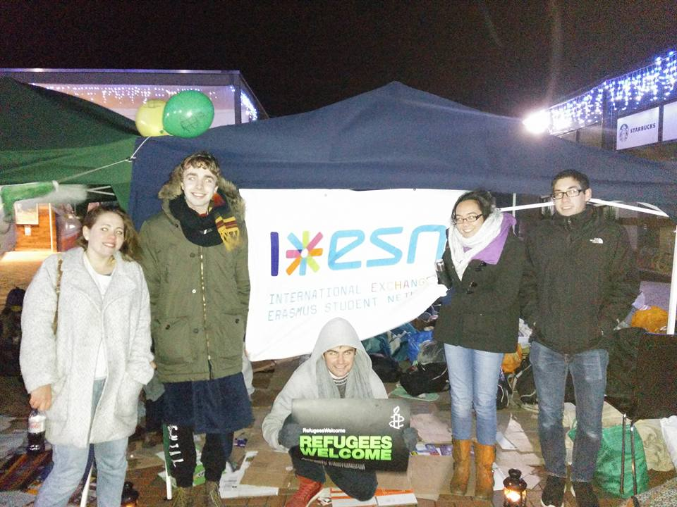 ESN members at the sleepout (photo take from ESN facebook page)