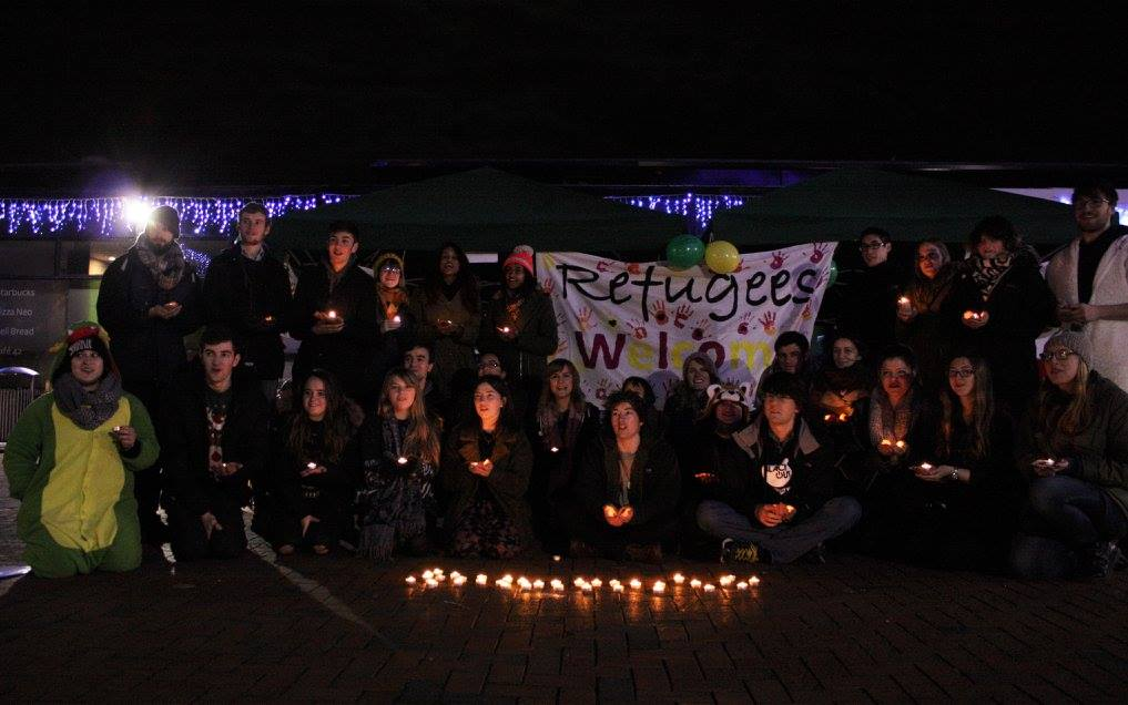 Showing solidarity #refugeeswelcome