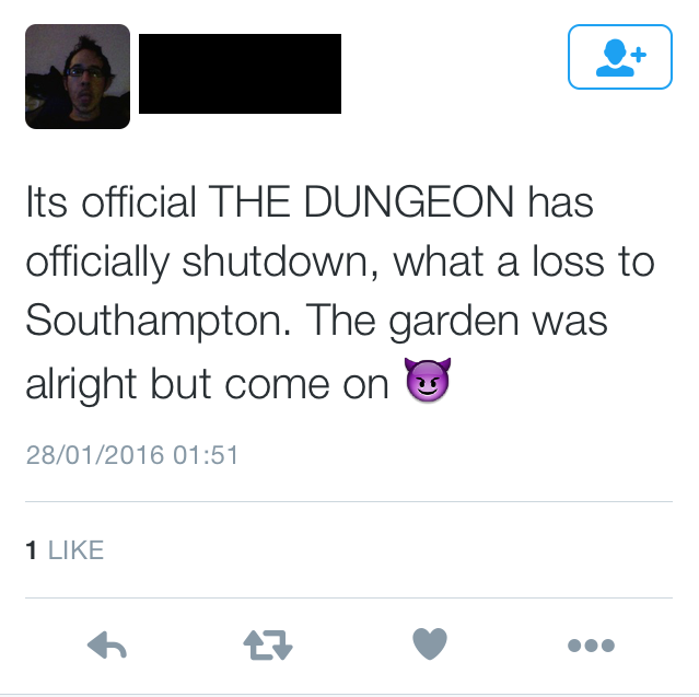 Dungeon fans were upset about its closure