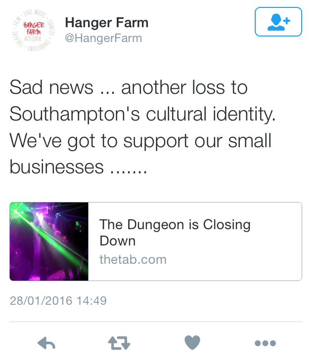 Many felt the loss to the Southampton night life would be a huge blow