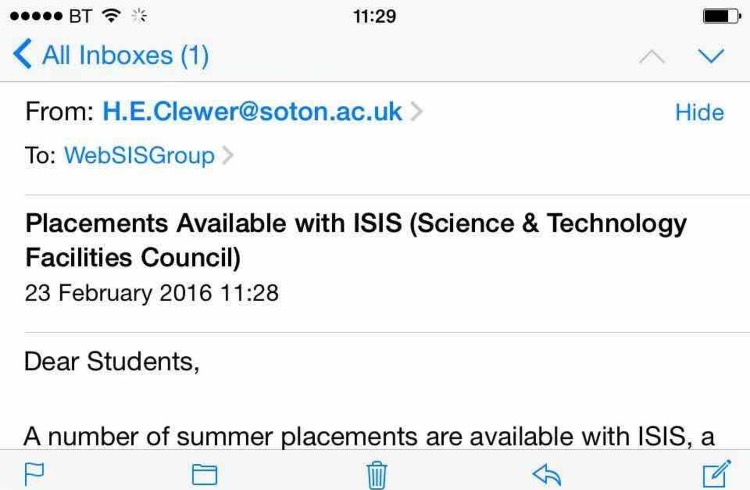 ISIS email
