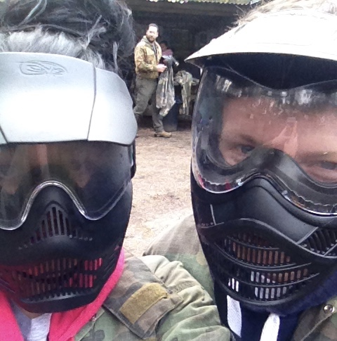 Paint balling on Valentine's Day. Just No.