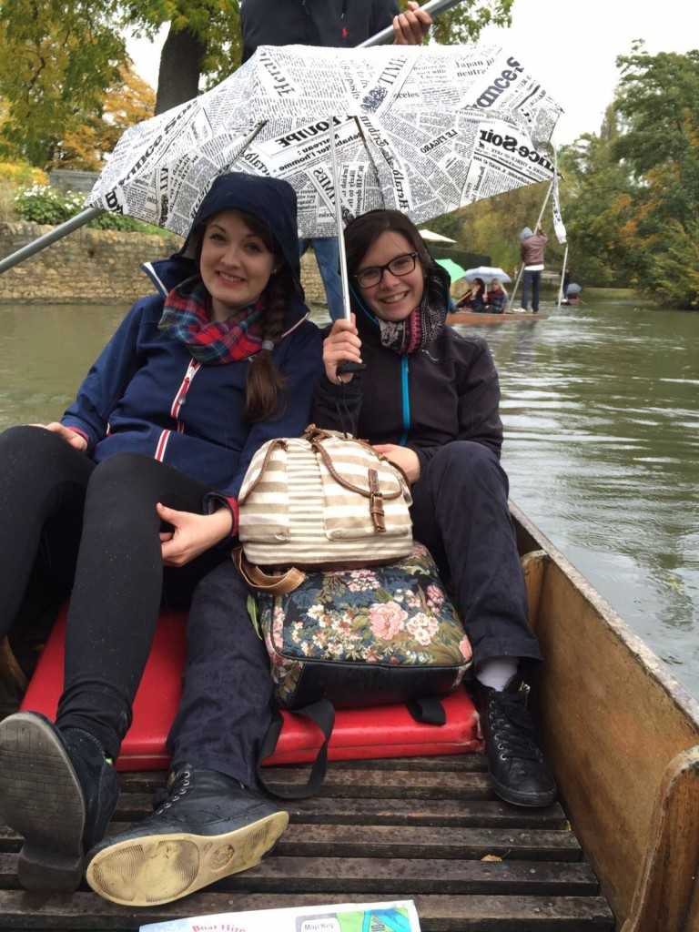 Punting in the rain - a very English thing to do in Oxford