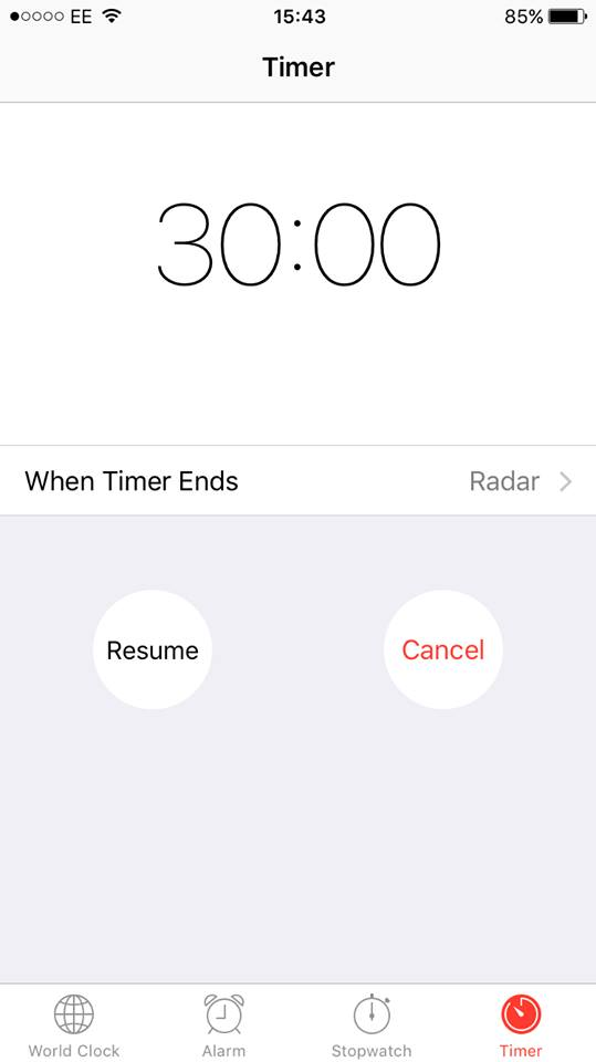 Perfect Timing: Give yourself a set time frame to work in