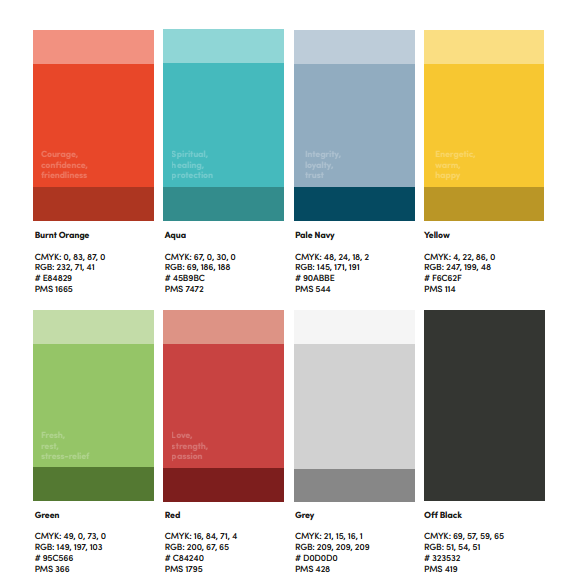 Eight permitted colour schemes - complete with creepy psychological connotations