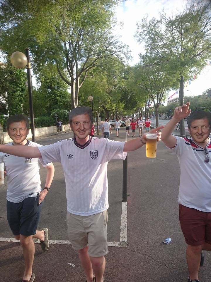 Good ol Uncle Woy: Most fans went to Marseille looking forward to a bit of fun and a good football game