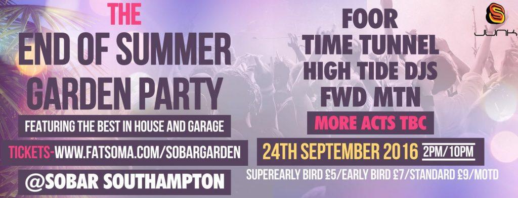 garden party banner junk