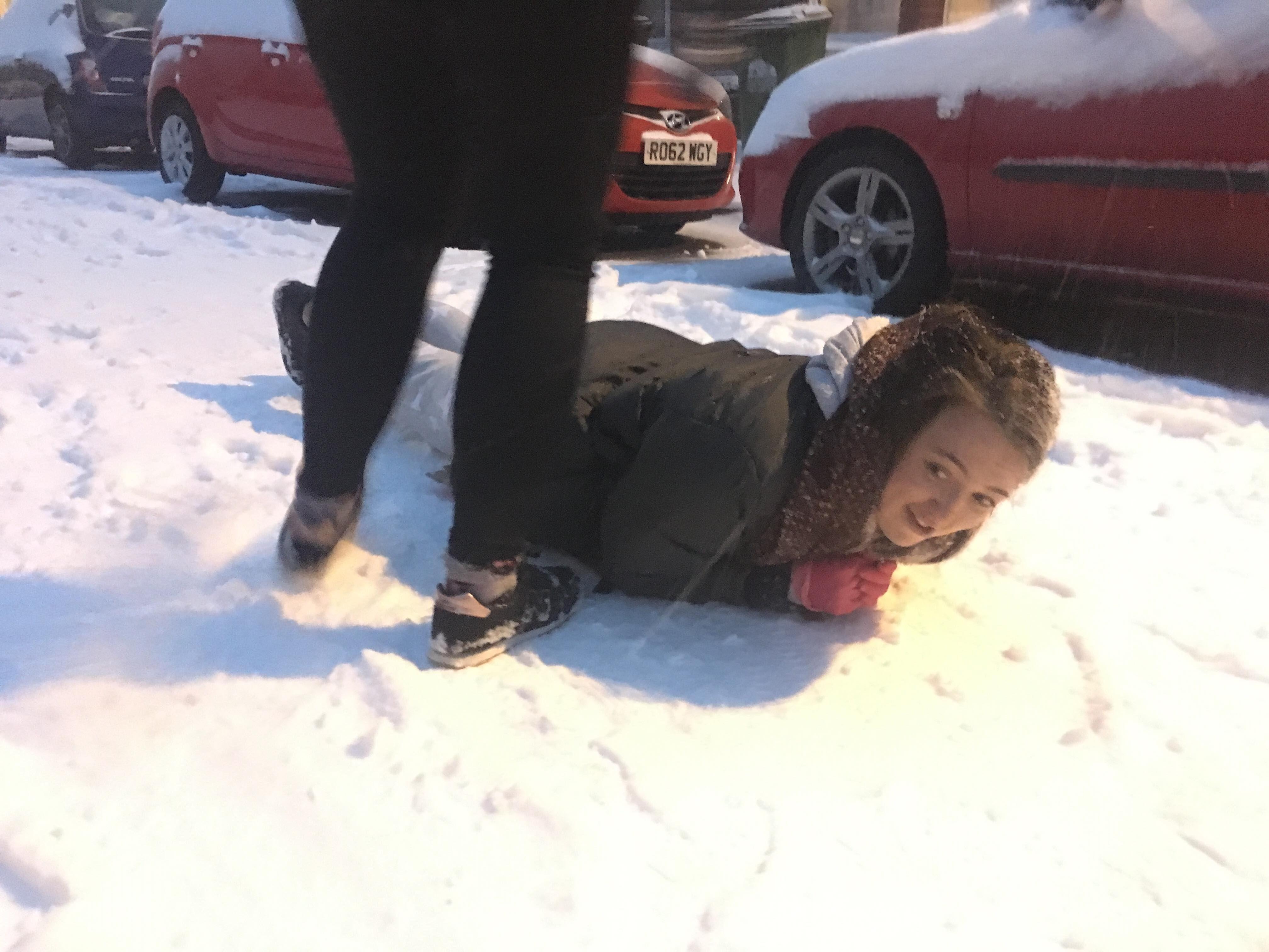 Image may contain: Snow, Outdoors, Helmet, Hardhat, Crash Helmet, Clothing