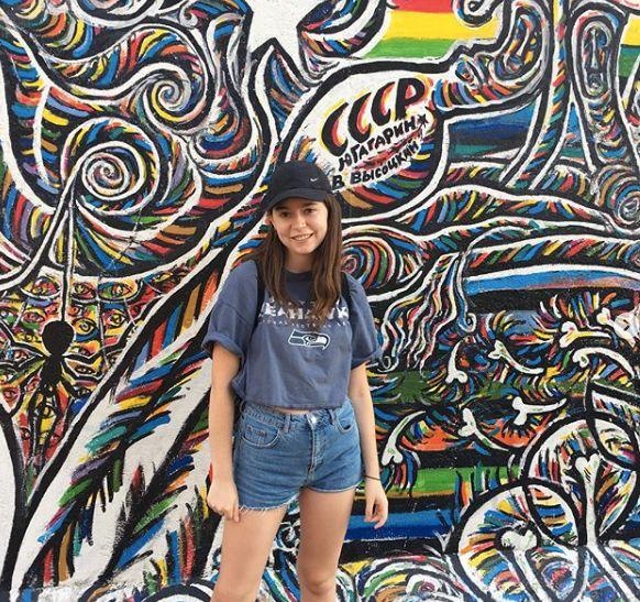 Image may contain: Wall, Graffiti, Modern Art, Shorts, Apparel, Clothing, Mural, Painting, Art, Human, Person