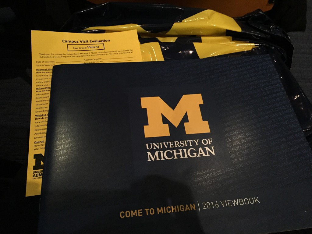 I went undercover as a high schooler for a campus tour of UMich