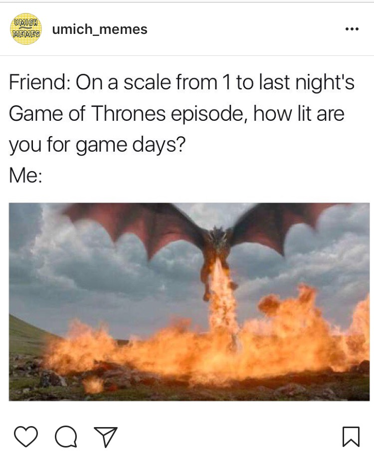 Send this to your group chat that you have a GoT watch party with every Sunday.