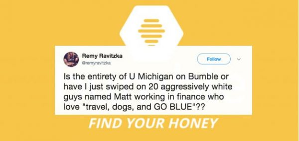 This is every UMich student you'll find on Bumble