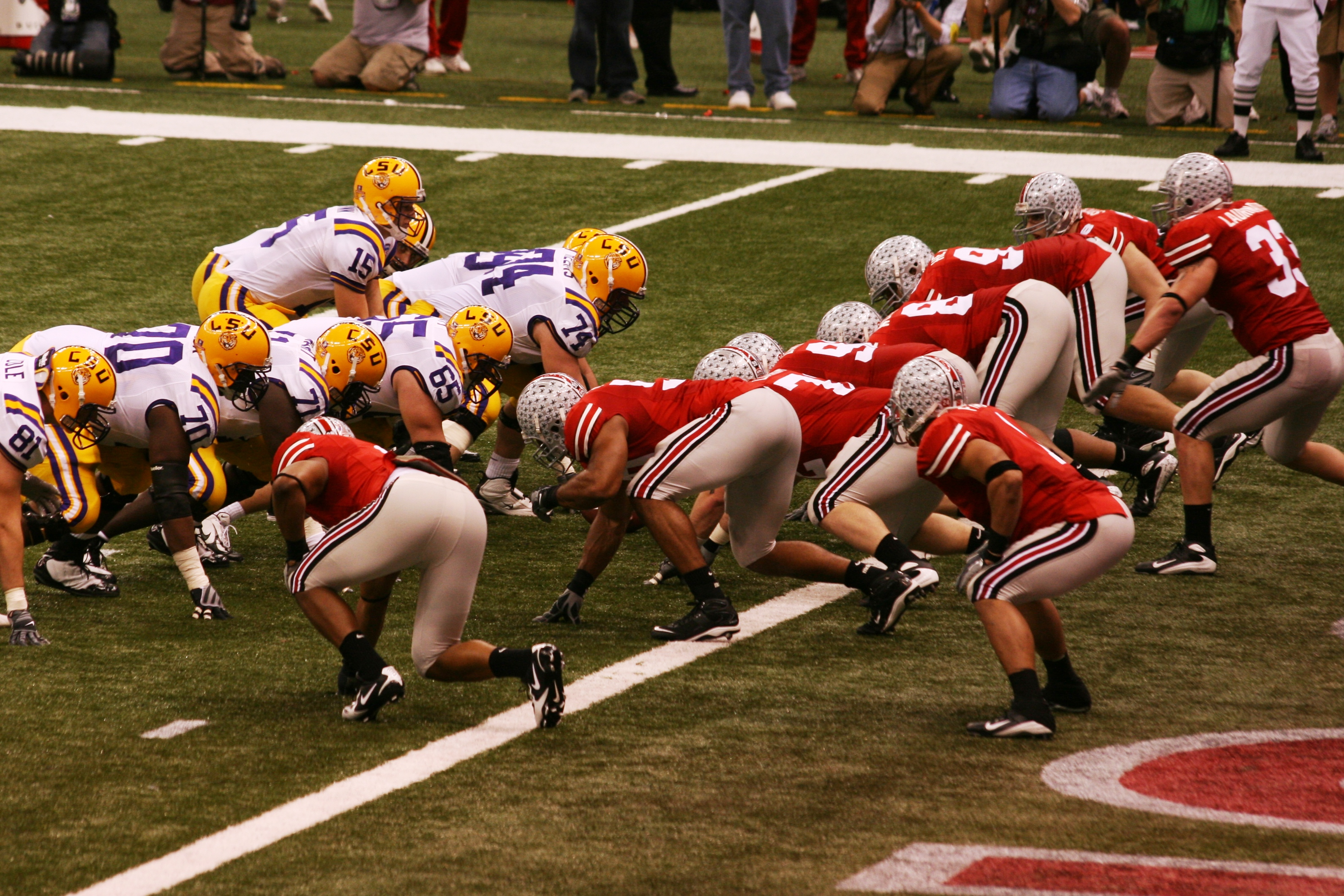 Ohio State lining up against LSU