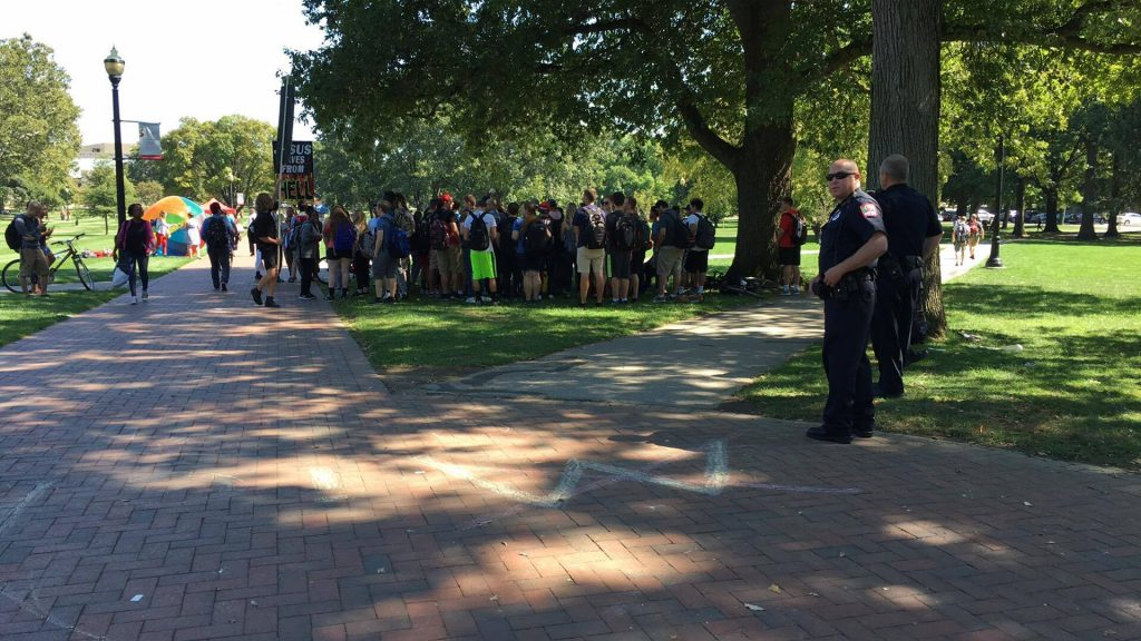Police on the Oval