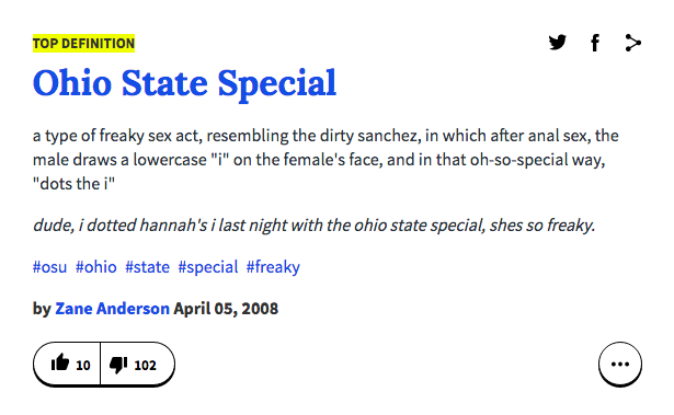 Sex act definitions urban dictionary