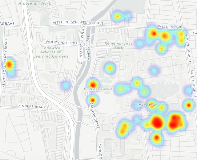 The full heat map of sexual assaults at OSU