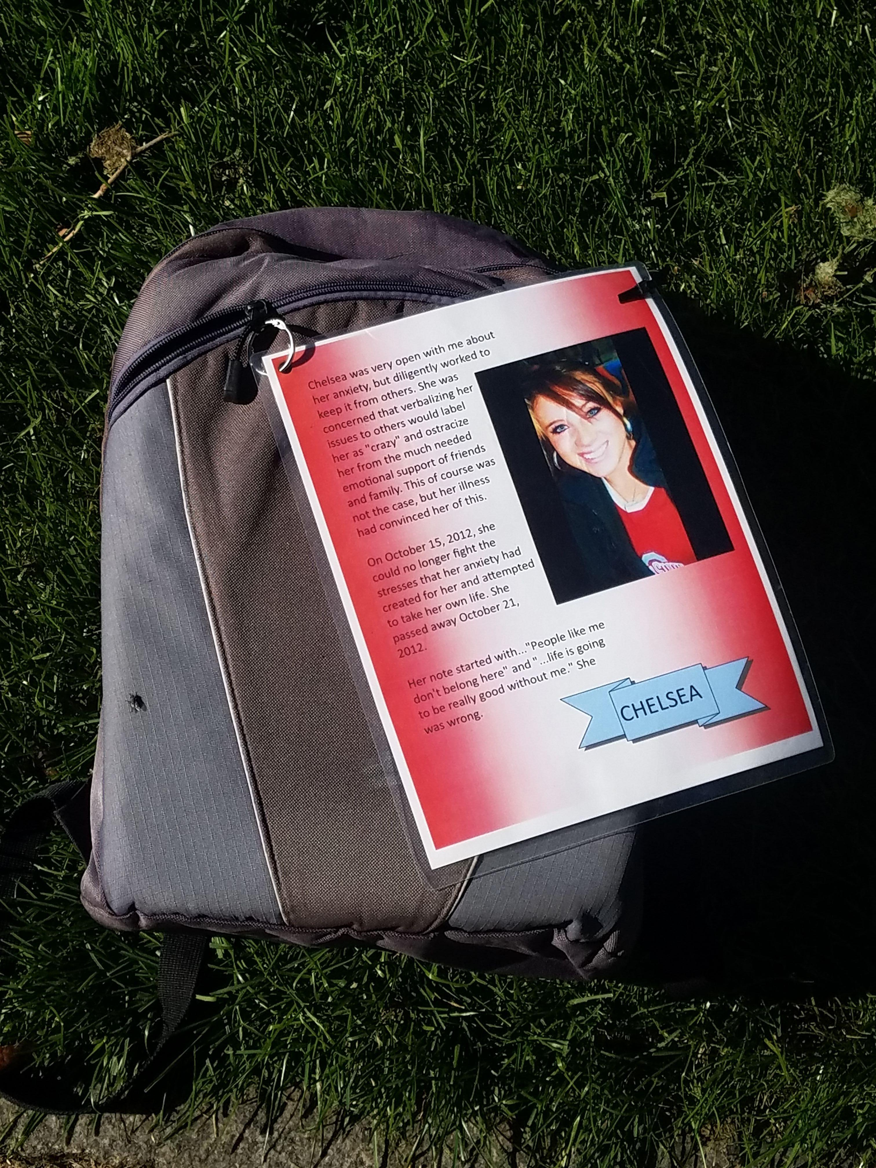 Example of one of the backpacks