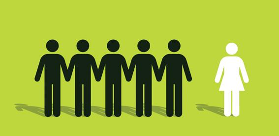 Men outnumber women
