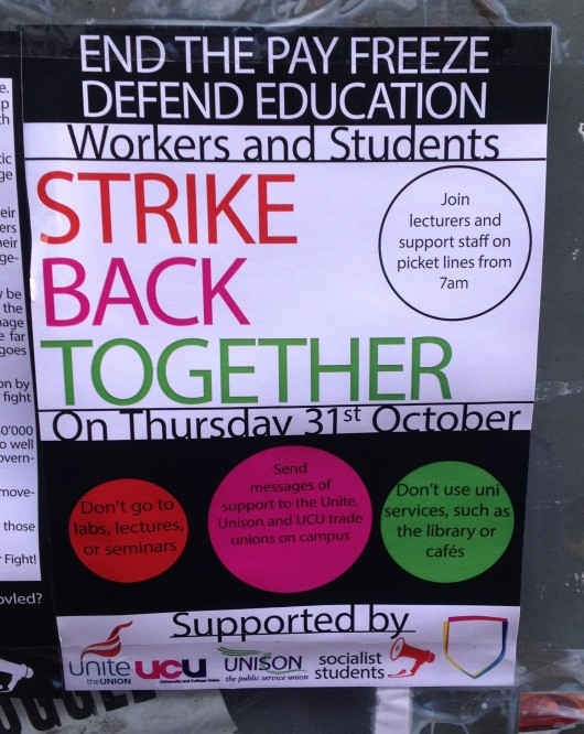 A poster advertising the strike