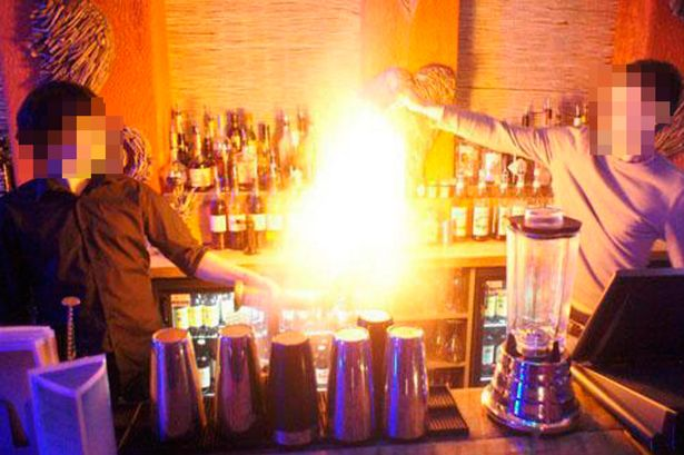 flaming sambuca