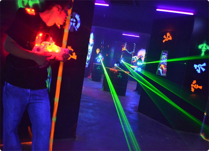 Laser quest - brings out the 8 year old in all of us