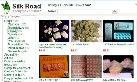 A screenshot of Silk Road