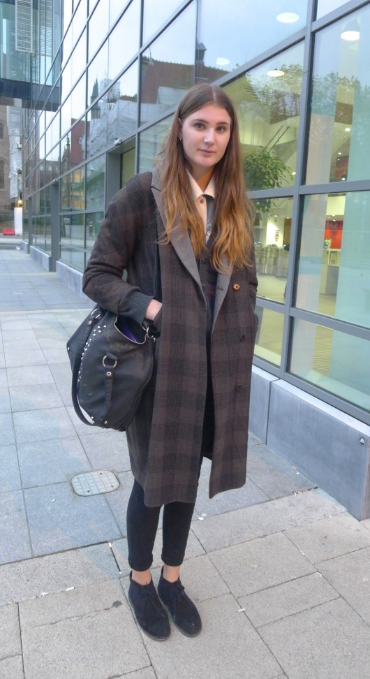 Anna is  3rd year Drama student. She cites 'Manchester fashion' and fashion magazines like Grazia as her style influences.