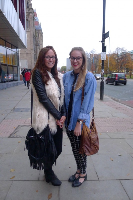 Lauren and Danni are 1st year Fashion students. Their style is influenced by fashion blogs, high street fashion, and magazines such as LOOK.