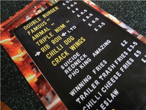 Almost the full menu