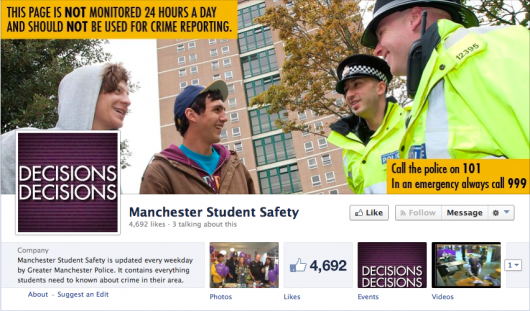 Manchester Student Safety: The page with thousands of likes where the photo was originally shared