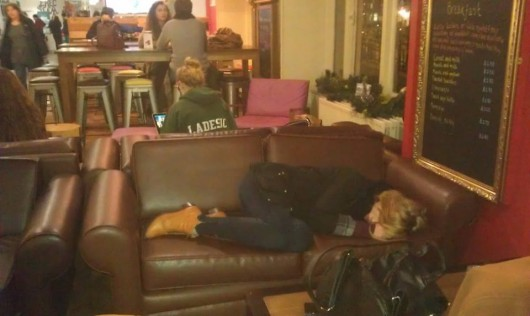 Didn't fancy a nap on the SU sofas then?