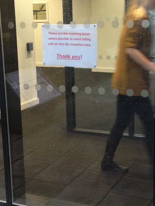 Insert ironic pic of non-disabled individual using disabled door