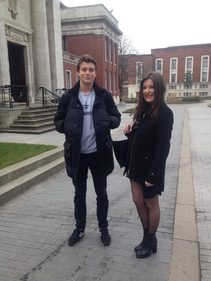 Elliot and Camille , 2nd year International Management students