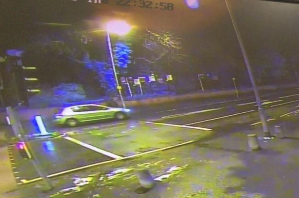 The man was struck off his feet on Parrs Wood Road Image: MEN