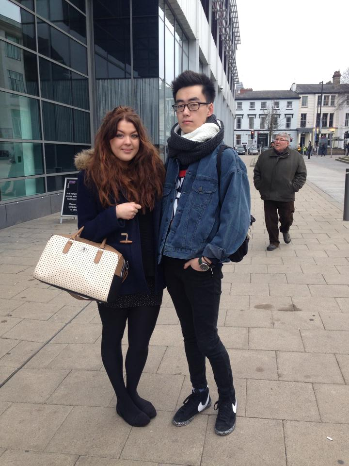 Nemo, 2nd year Accounting and Finance student and Jana, 3rd year American Studies student