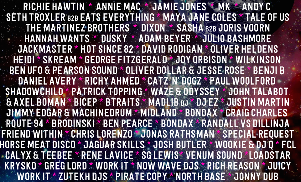 These DJs are on the line-up alongside the big names