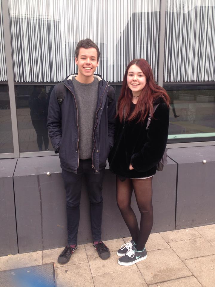 Tom and Gabby, 1st year Chinese and Spanish students