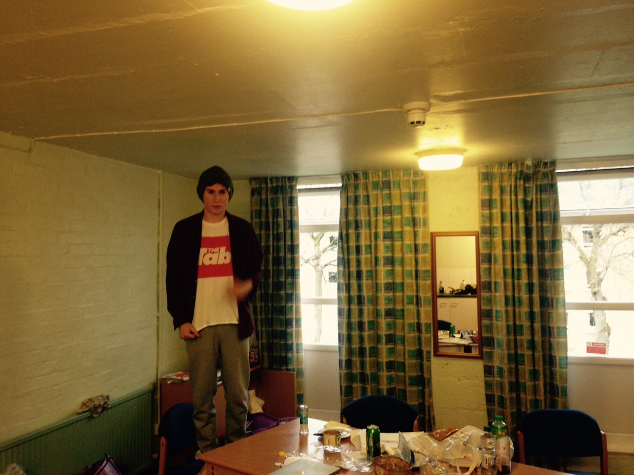 The flat was filthy