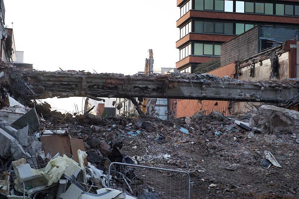 What remains on Oxford road. Courtesy of Manchester Evening News