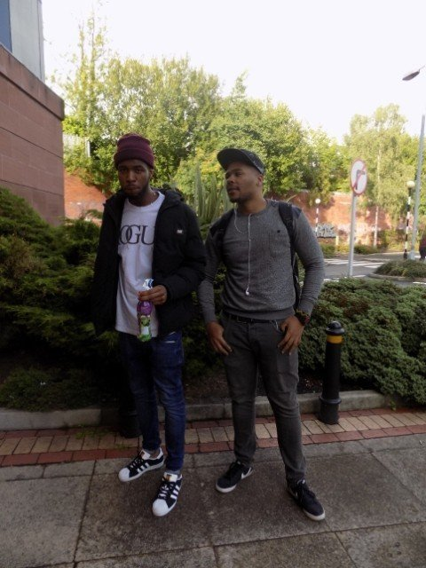 Raphael and Collins, 3rd year computing students, described Manchester style as 'different, everybody has their own personal style'.